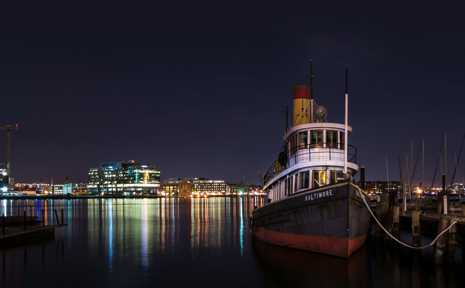Boat in Baltimore Harbor